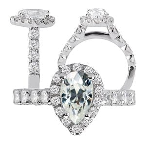 117470-100mo pear shaped diamond semi-mount engagement ring