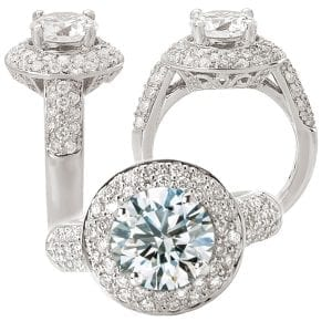 117794 round diamond semi-mount engagement ring