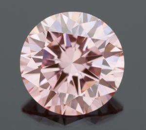 Loose pink lab-grown diamonds