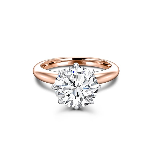 Round Forever One Moissanite Engagement Rings