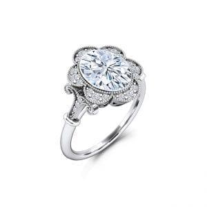 Designer Oval Moissanite Engagement Rings