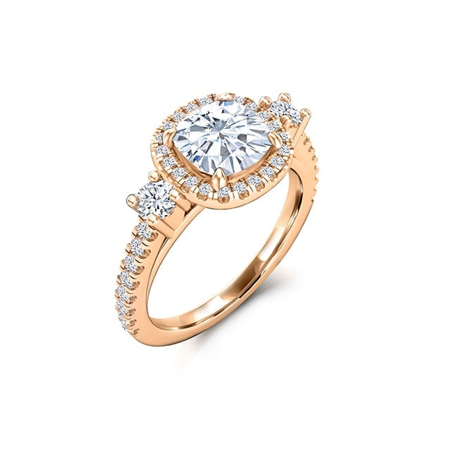 Forever One Cushion Cut Moissanite Engagement Rings