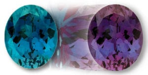 Chatham Oval Alexandrite Color Change
