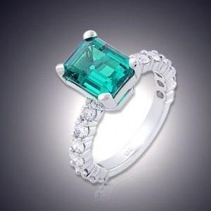 Custom Chatham Emerald Ring