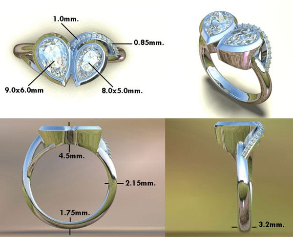 Heart & Soul Birthstone Engagement Ring With Diamonds