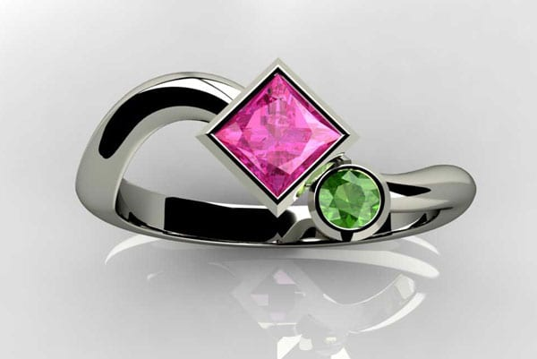 Precious Princess Birthstone Engagement Ring