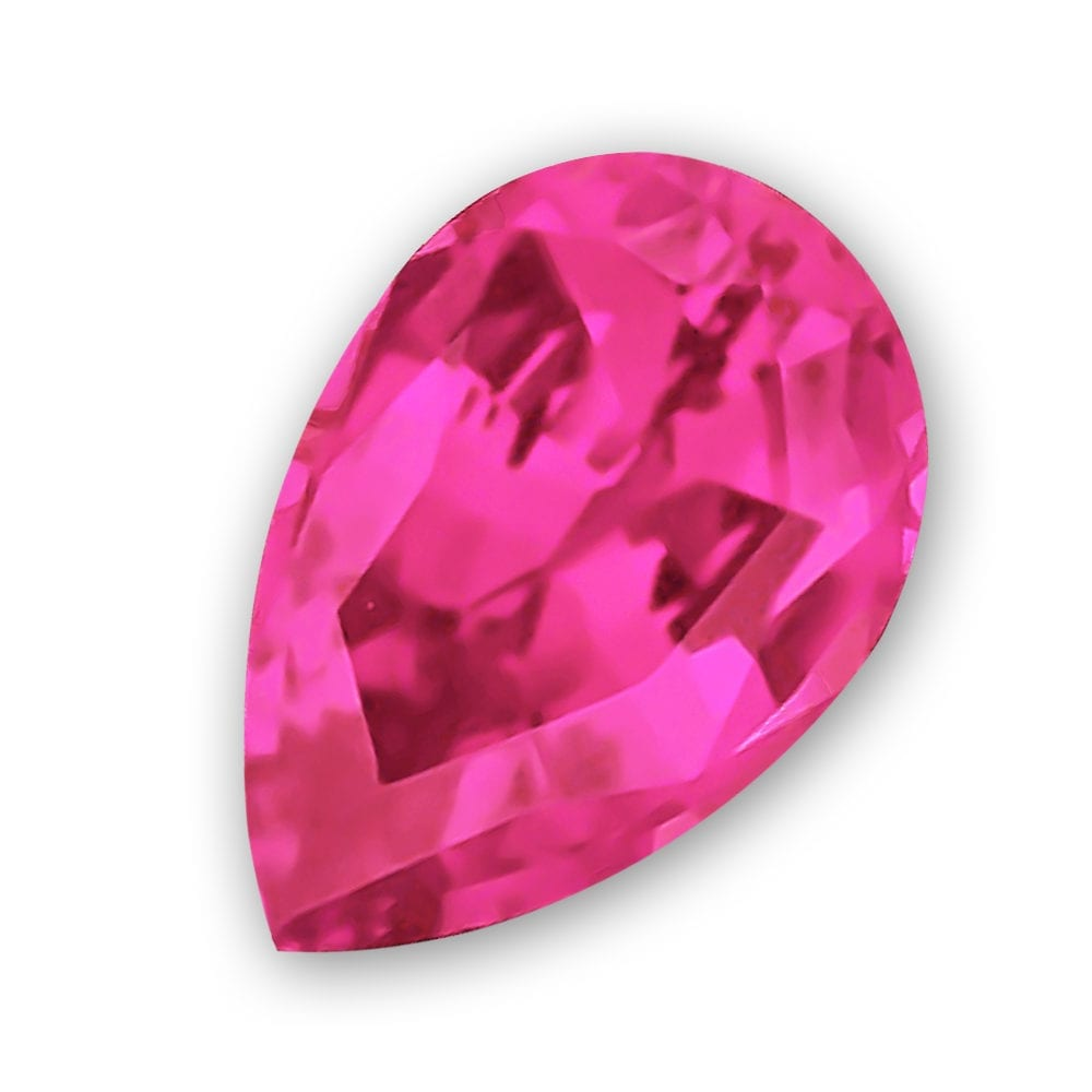 Pear Shaped Chatham Pink Sapphire