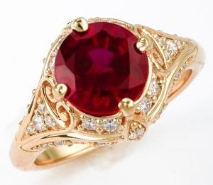Custom Chatham Ruby Engagement Ring