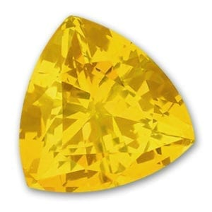 Trillion Chatham Yellow Sapphires